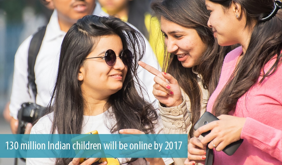 130 million Indian children will be online by 2017