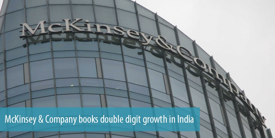 McKinsey & Company books double digit growth in India