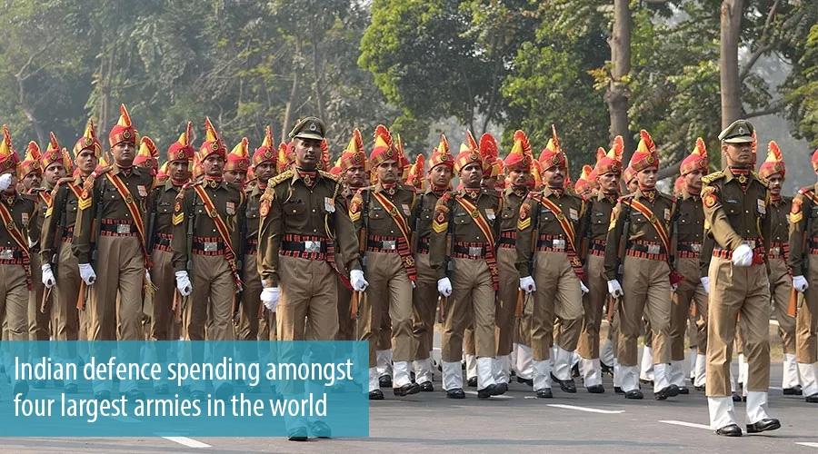Indiandefencespendingamongstfourlargestarmiesinthe Worldjpg - Largest armies in the world