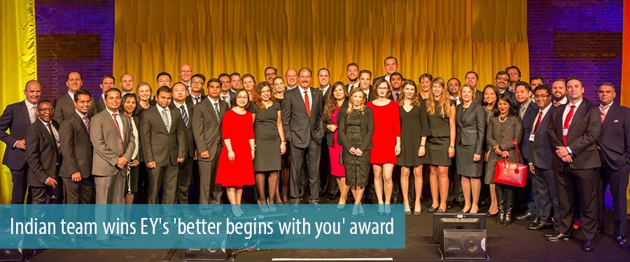 Indian team wins EY's 'better begins with you' award