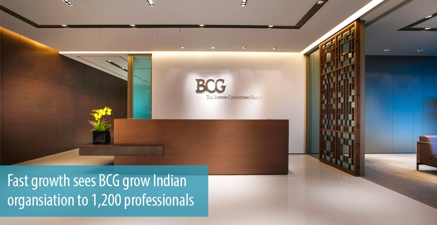Fast growth sees BCG grow Indian organsiation to 1,200 professionals