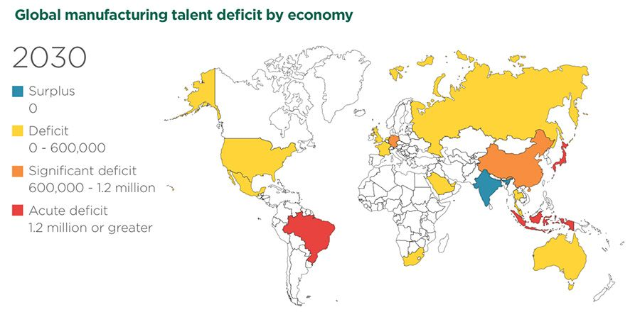 Global manufacturing talent deficit