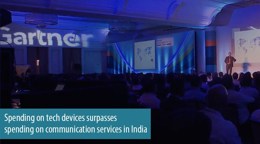 Spending on tech devices surpasses spending on communication services in India