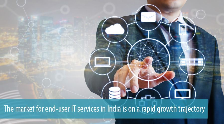 The market for end-user IT services in India is on a rapid growth trajectory