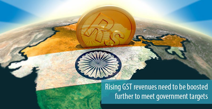 Rising GST revenues need to be boosted further to meet government targets