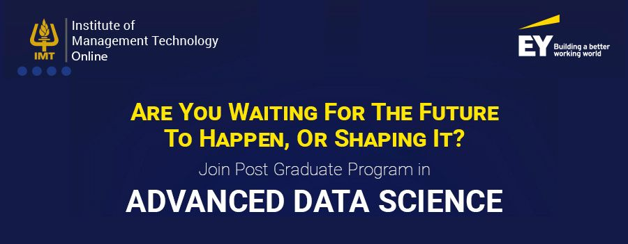 EY to support new Advanced Data Science Programme launched by IMT CDL