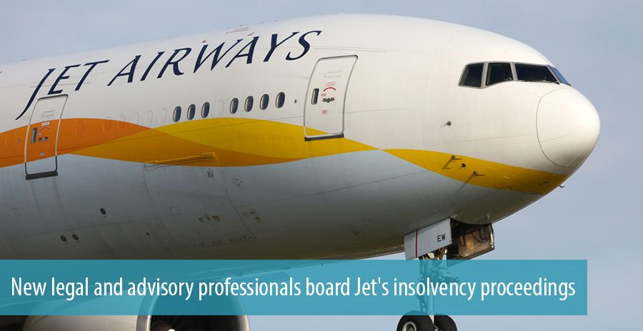 New legal and advisory professionals board Jet's insolvency proceedings