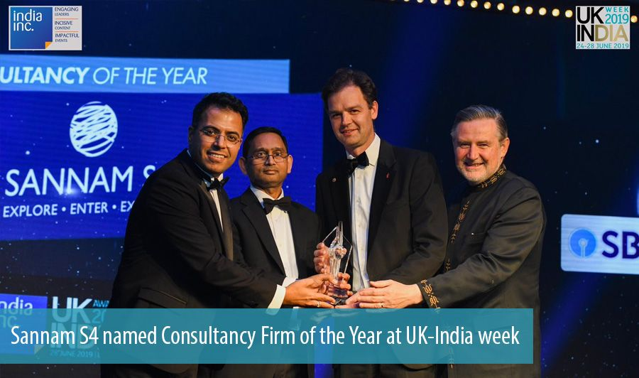 Sannam S4 named Consultancy Firm of the Year at UK-India week