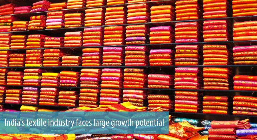 India's textile industry faces large growth potential