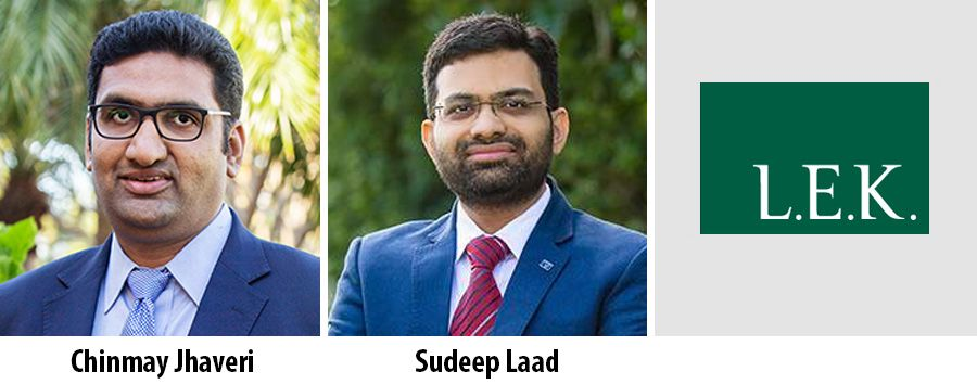 L.E.K. promotes Chinmay Jhaveri and Sudeep Laad to partner