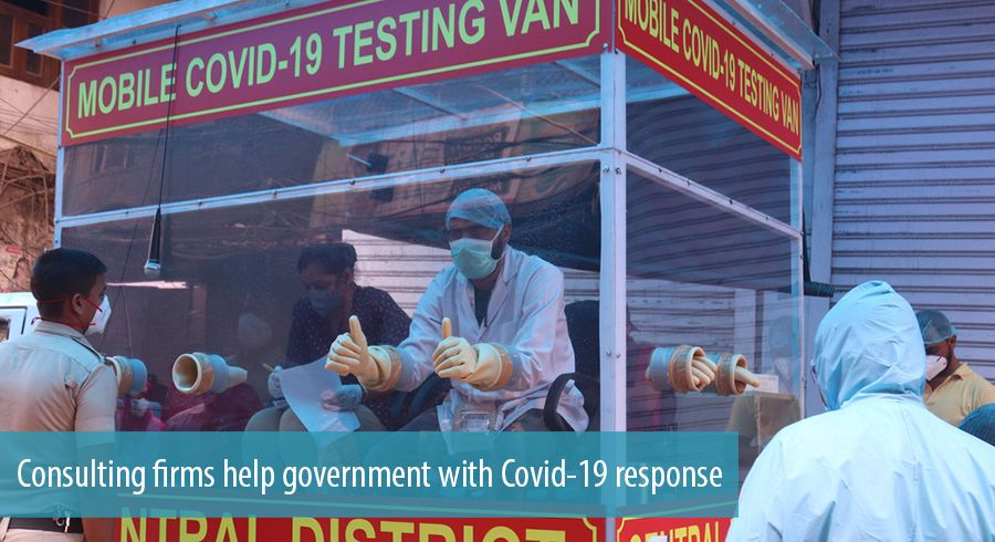 Consulting firms help government with Covid-19 response