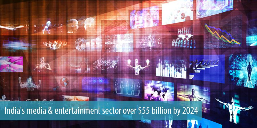 India's media & entertainment sector over $55 billion by 2024